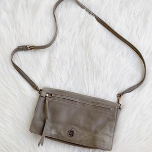 Tory Burch Taupe Crossbody Bag Magnetic Flap